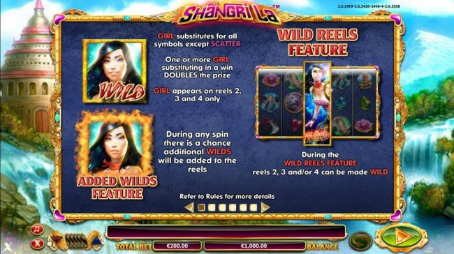Lucky Me Slots featuring the Video Slots Shangri La with a maximum payout of $30,000