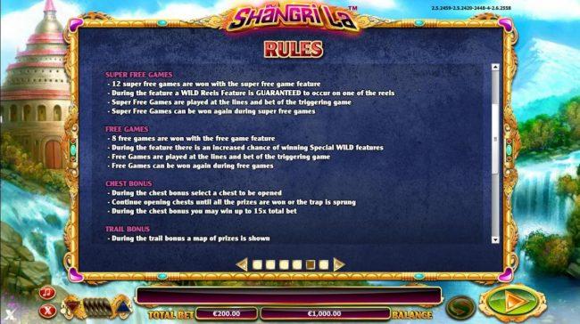Bonus Feature Rules - Continued
