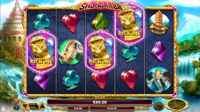 Ocean Bets featuring the Video Slots Shangri La with a maximum payout of $30,000