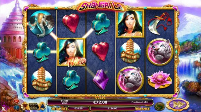 EU Casino featuring the Video Slots Shangri La with a maximum payout of $30,000