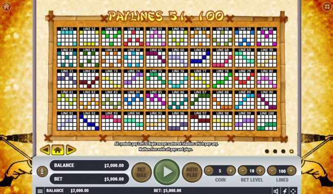 Paylines 51-100