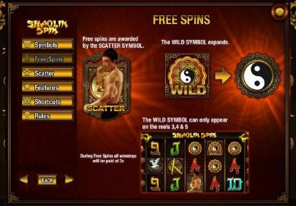 Wicked Bet featuring the Video Slots Shaolin Spin with a maximum payout of $2,500