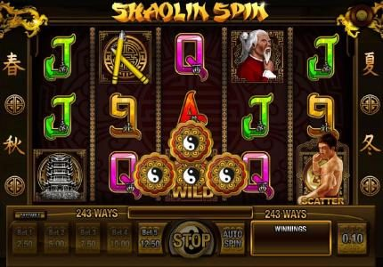 Tangiers featuring the Video Slots Shaolin Spin with a maximum payout of $2,500