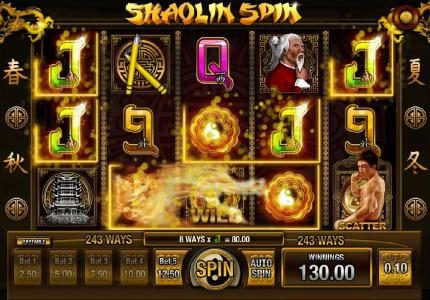 7 Gods Casino featuring the Video Slots Shaolin Spin with a maximum payout of $2,500