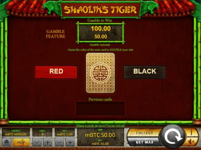 Superior featuring the Video Slots Shaolin's Tiger with a maximum payout of $25,000