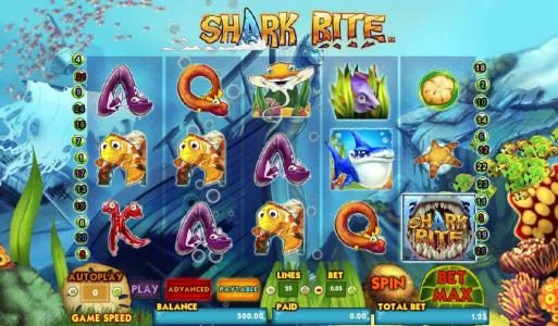 Play slots at Ocean Bets: Ocean Bets featuring the Video Slots Shark Bite with a maximum payout of $10,000