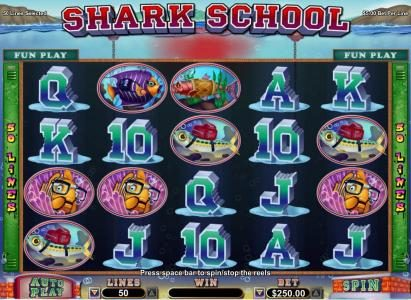 Bodog featuring the Video Slots Shark School with a maximum payout of $7,500