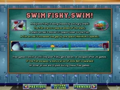 Ruby Slots featuring the Video Slots Shark School with a maximum payout of $7,500