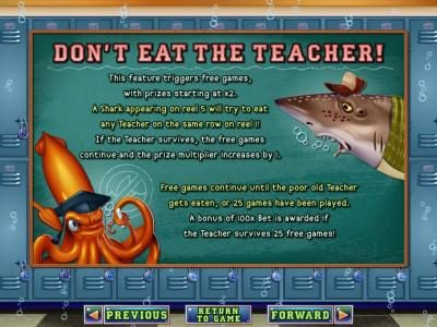 Wild Vegas featuring the Video Slots Shark School with a maximum payout of $7,500