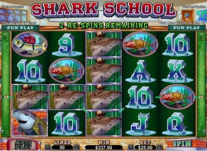 Slots.com featuring the Video Slots Shark School with a maximum payout of $7,500