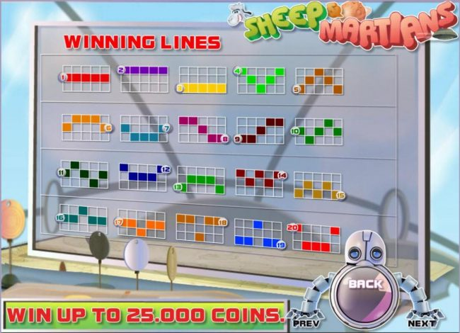 Casiplay featuring the Video Slots Sheep and Martians with a maximum payout of $250,000