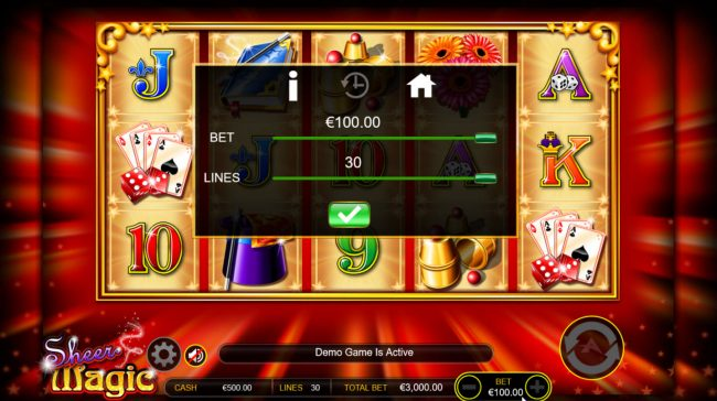 Play slots at Casino-X: Casino-X featuring the Video Slots Sheer Magic with a maximum payout of $100,000