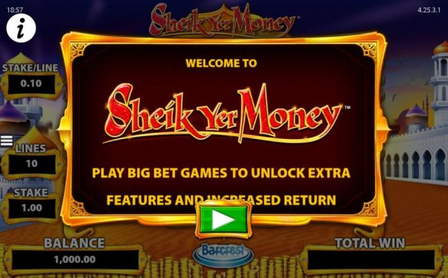 Play slots at Lucky Me Slots: Lucky Me Slots featuring the Video Slots Sheik yer Money with a maximum payout of $12,500