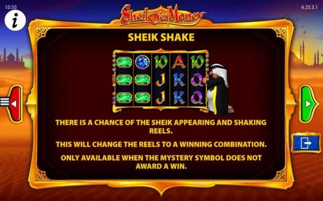 Dream Vegas featuring the Video Slots Sheik yer Money with a maximum payout of $12,500