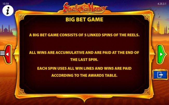 Play slots at Spinland: Spinland featuring the Video Slots Sheik yer Money with a maximum payout of $12,500