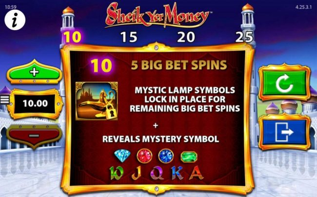 Play slots at Simba Games: Simba Games featuring the Video Slots Sheik yer Money with a maximum payout of $12,500