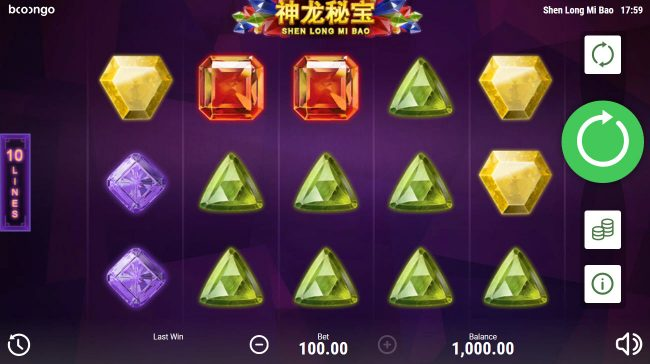 LaFiesta featuring the Video Slots Shen Long Mi Bao with a maximum payout of $30,000