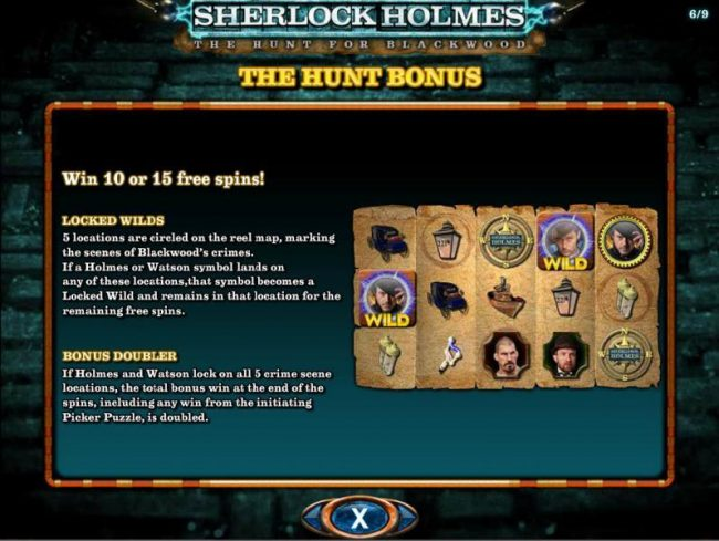 Jonny Jackpot featuring the Video Slots Sherlock Holmes The Hunt for Blackwood with a maximum payout of $250,000