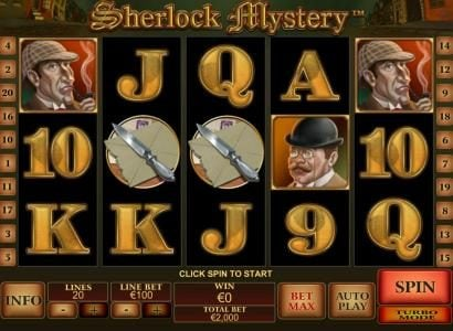 Club 777 featuring the Video Slots Sherlock Mystery with a maximum payout of $1,000,000