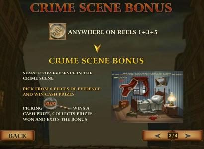 Magic Box featuring the Video Slots Sherlock Mystery with a maximum payout of $1,000,000