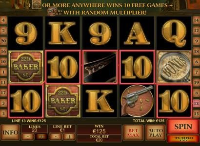 Casino.DK featuring the Video Slots Sherlock Mystery with a maximum payout of $1,000,000