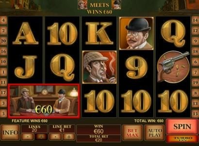 City Club Casino featuring the Video Slots Sherlock Mystery with a maximum payout of $1,000,000