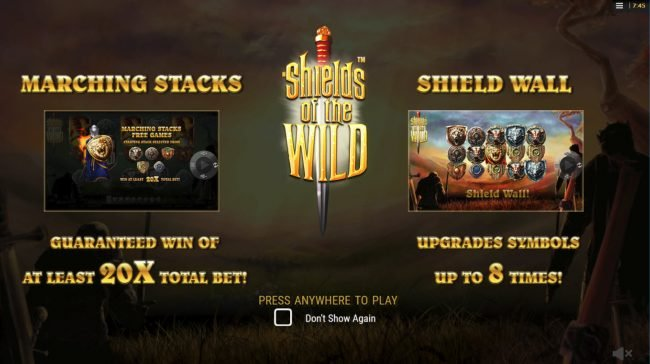 Play slots at Sapphire Rooms: Sapphire Rooms featuring the Video Slots Shields of the Wild with a maximum payout of $2,500