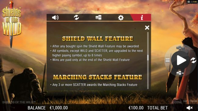 Play slots at YouWin: YouWin featuring the Video Slots Shields of the Wild with a maximum payout of $2,500