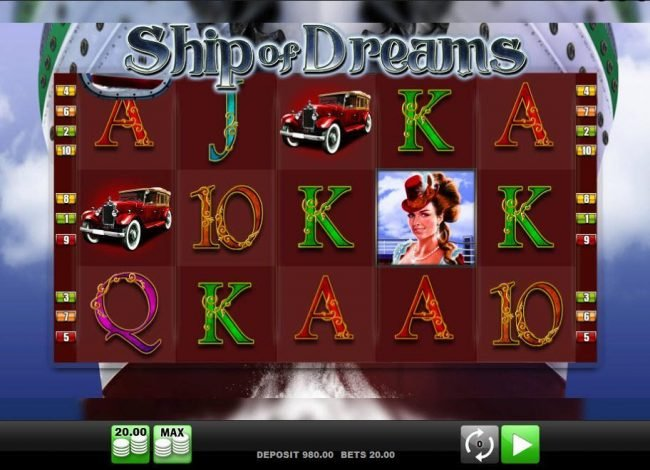 Play slots at Spinrider: Spinrider featuring the Video Slots Ship of Dreams with a maximum payout of $20,000