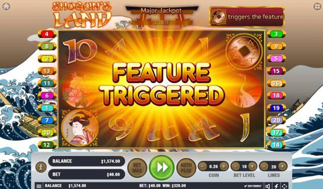 Shogun's Land :: Feature triggered
