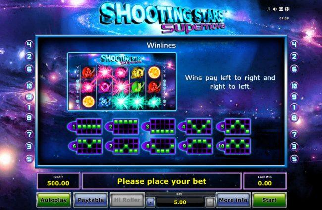 Shooting Stars Supernova :: Winlines