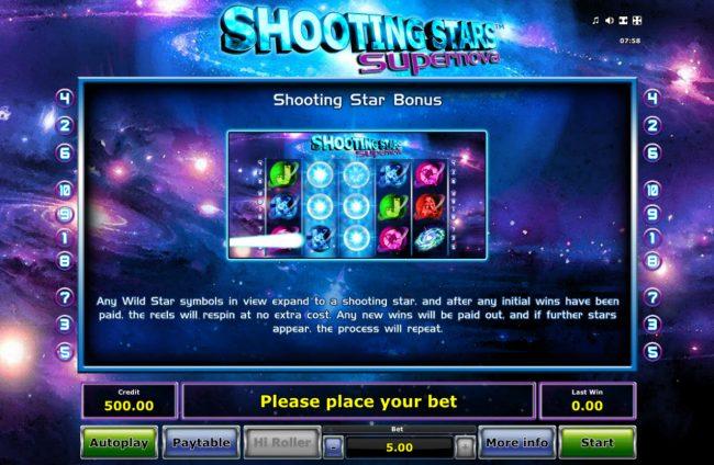 Shooting Stars Supernova :: Bonus Game Rules
