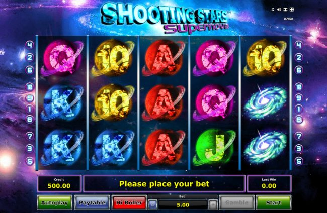 Shooting Stars Supernova :: Main Game Board
