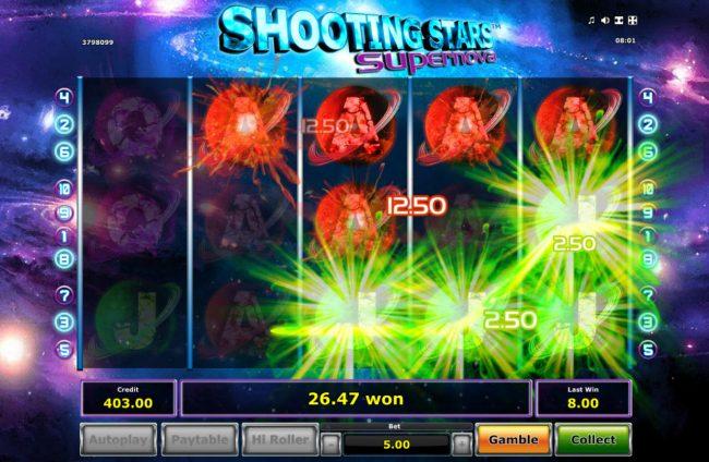 Shooting Stars Supernova :: Multiple winning paylines