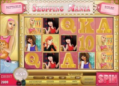 Play slots at Dasistcasino: Dasistcasino featuring the Video Slots Shopping Mania with a maximum payout of $750,000