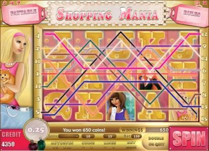 Buran featuring the Video Slots Shopping Mania with a maximum payout of $750,000