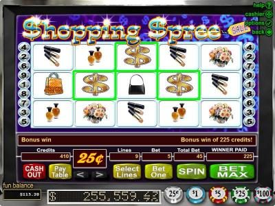 Slots Plus featuring the Video Slots Shopping Spree with a maximum payout of $100,000