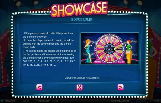 Showcase :: Bonus Rules - Continued