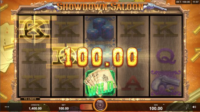 Zodiac featuring the Video Slots Showdown Saloon with a maximum payout of $150,000