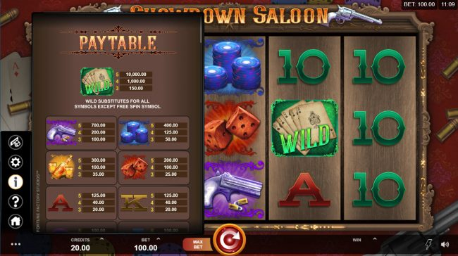Golden Riviera featuring the Video Slots Showdown Saloon with a maximum payout of $150,000