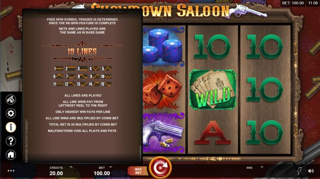 Play slots at Dream Vegas: Dream Vegas featuring the Video Slots Showdown Saloon with a maximum payout of $150,000