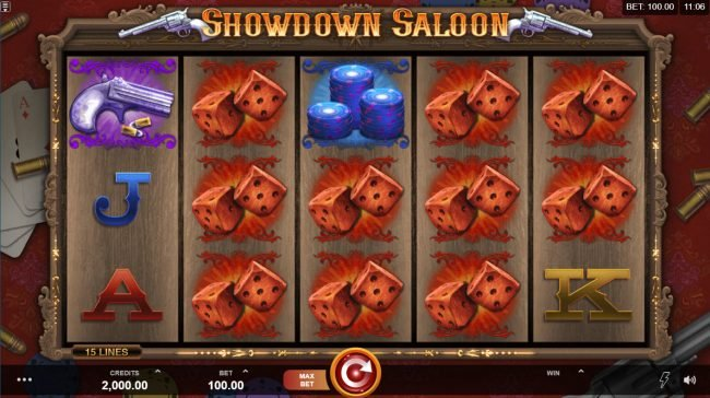 Spinrider featuring the Video Slots Showdown Saloon with a maximum payout of $150,000