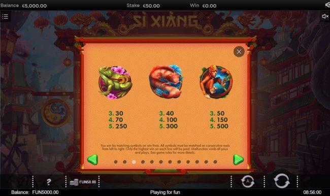 Si Xiang :: High Value Symbols