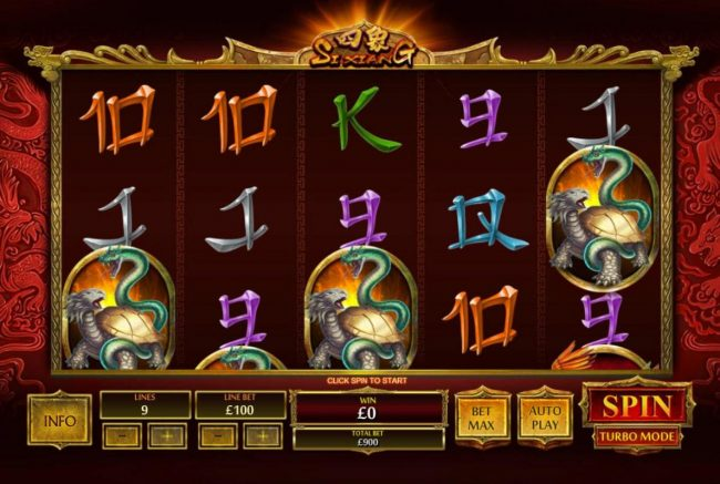 Omni featuring the Video Slots Si Xiang with a maximum payout of $1,000,0000