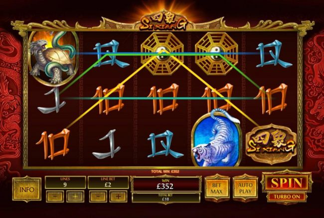 NetBet featuring the Video Slots Si Xiang with a maximum payout of $1,000,0000