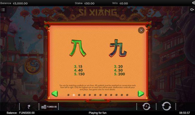 Si Xiang :: Low Value Symbols