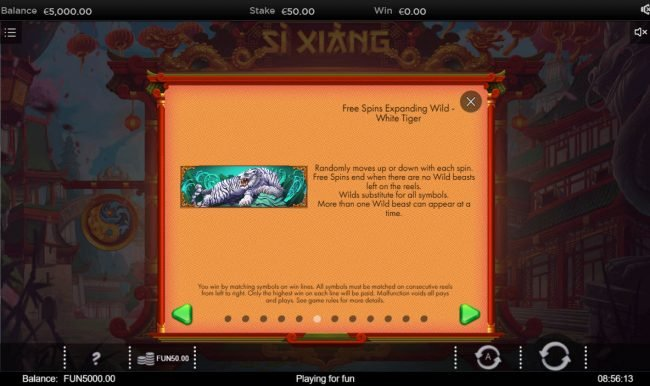 Si Xiang :: Free Spins Rules