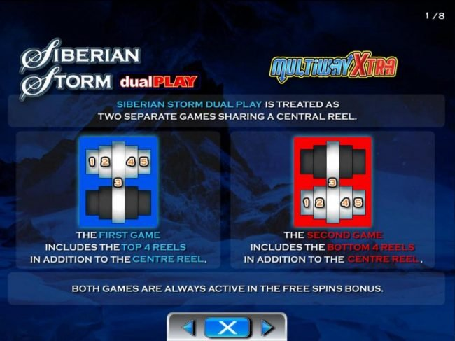 Cheeky Riches featuring the Video Slots Siberian Storm Dual Play with a maximum payout of $250,000