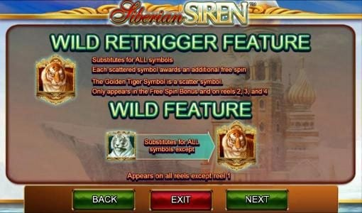 Queen Vegas featuring the Video Slots Siberian Siren with a maximum payout of $50,000