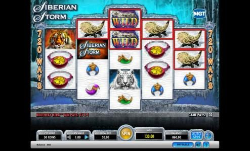 Secret Slots featuring the Video Slots Siberian Storm with a maximum payout of $250,000